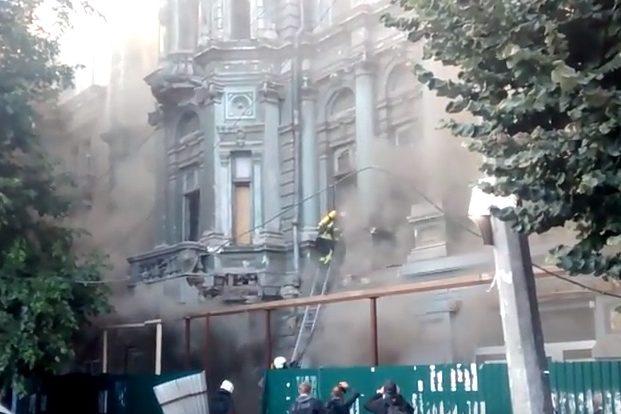 ВОдесі горить Будинок Русова