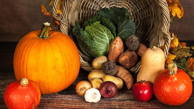 Гарбуз та овочі