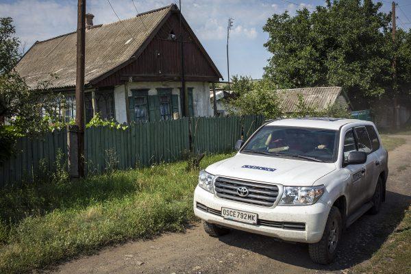 НаДонеччині патруль ОБСЄ потрапив ваварію
