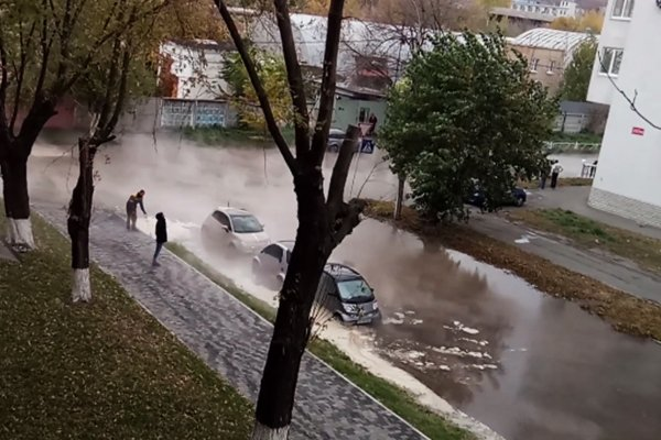 УКиєві автомобілі «варилися» вокропі 15 хвилин