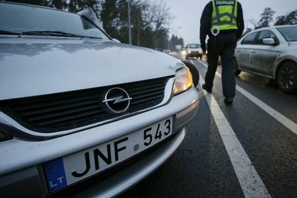 Авто на литовських номерах