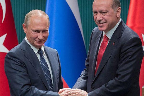 ВСочи отприкосновения В.Путина упал стул Эрдогана