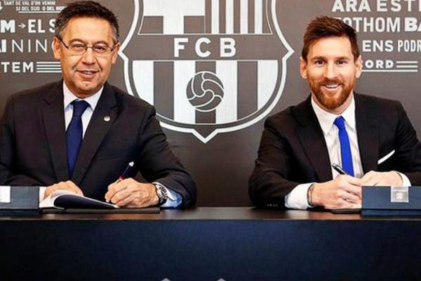 «Здесь— мой дом»: Месси прокомментировал новый договор с«Барселоной»