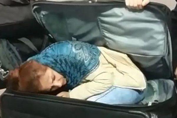 грузин провез женщину в чемодане