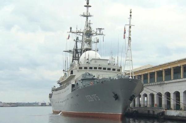 Разведывательный корабль РФ замечен уберегов США— ТВ