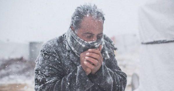 Людина на морозі