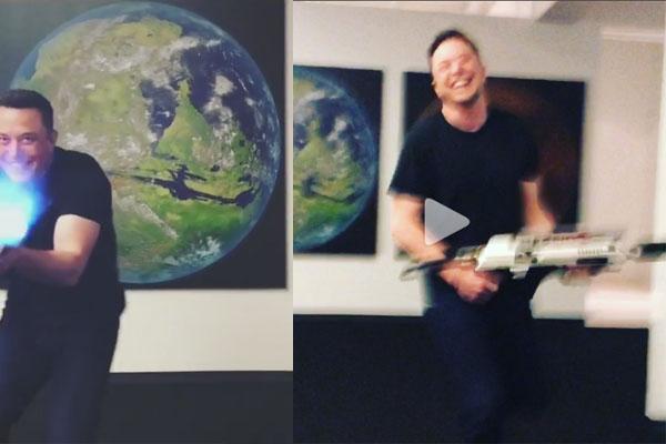 Илон Маск презентовал огнемет для спасения отзомби-апокалипсиса