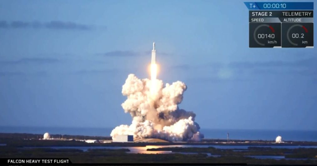 Запуск Falcon Heavy