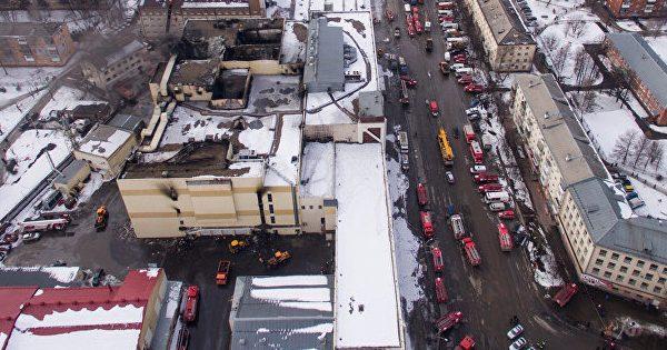ВТЦ «Зимняя вишня» вКемерово вновь вспыхнул пожар