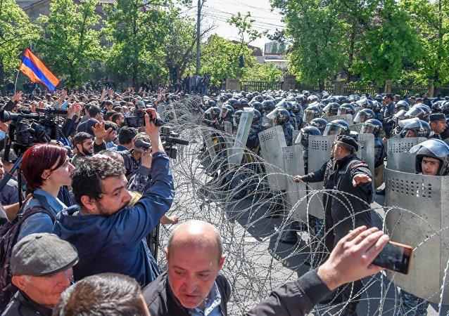 Сутички в Єревані