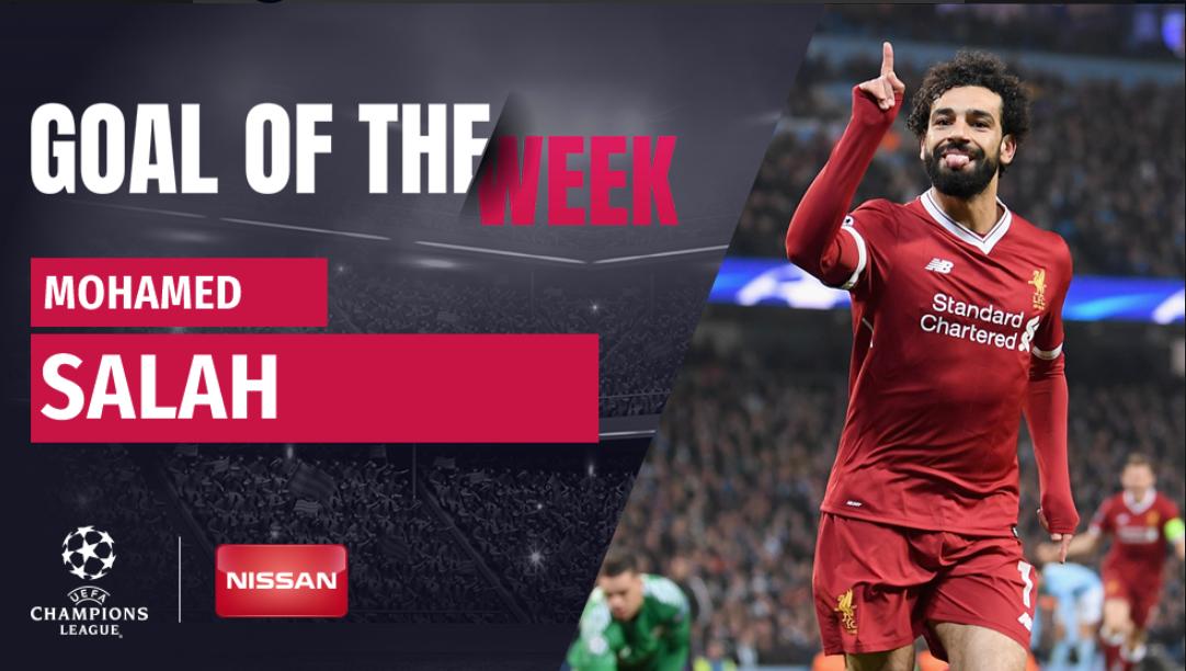 Роналду проиграл борьбу Салаху за лучший гол в 1/4 финала Лиги чемпионов