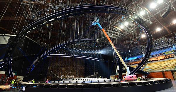 Встиле океана. Нацеремонии открытия Евровидения-2018 поменяют цвет ковровой дорожки