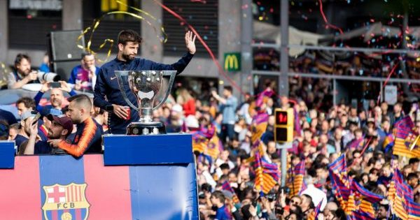 «Барселона» провела чемпионский парад