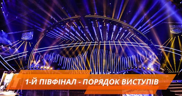 Порядок виступу учасників у першому півфіналі Євробачення 2018
