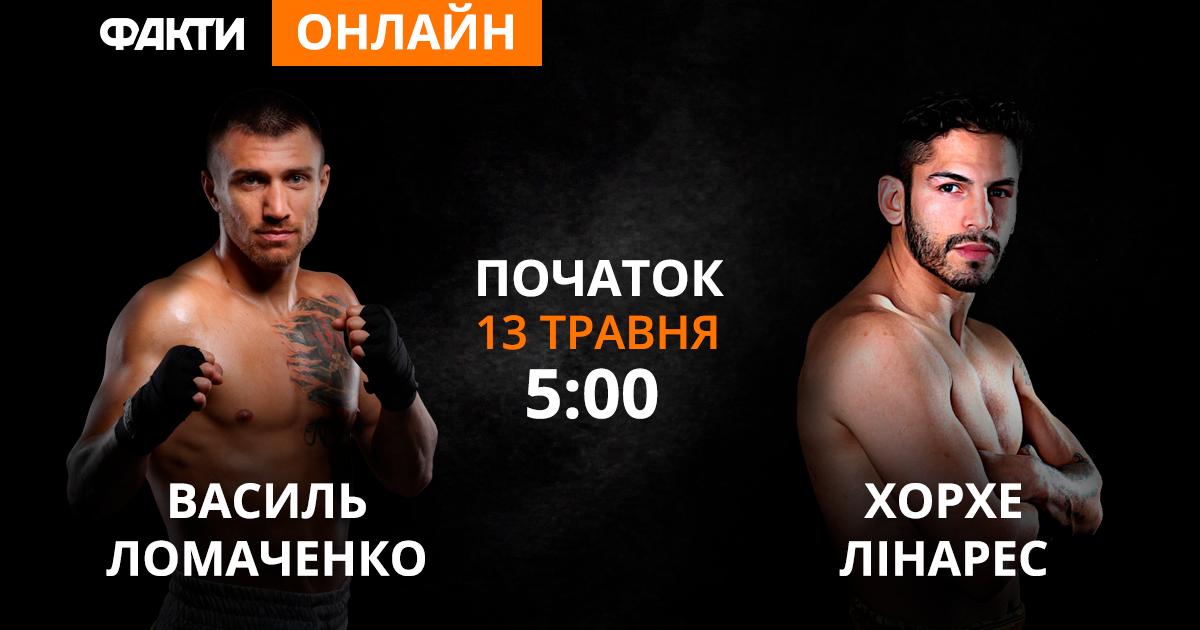 Бокс, Ломаченко-Лінарес, бій за титул чемпіона світу: онлайн-трансляція