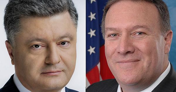 Петро Порошенко та Майк Помпео