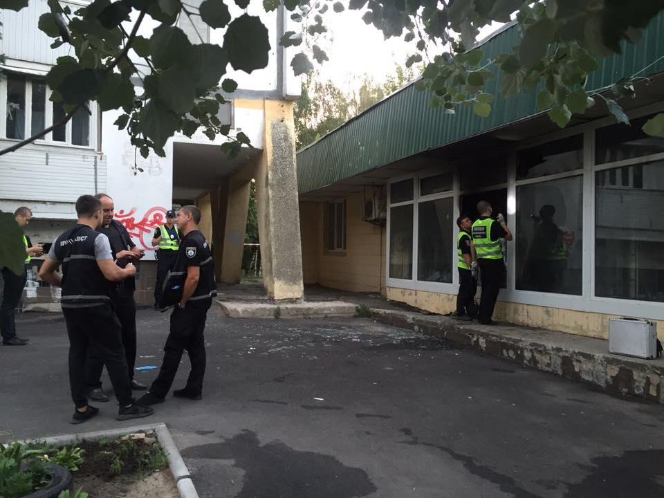 Пожежа у відділенні банку в Києві