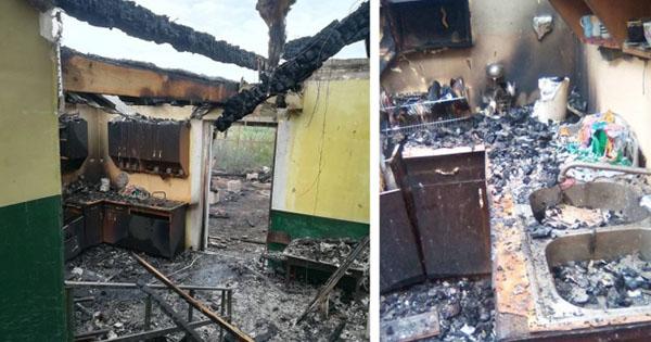 У Закарпатській області згорів дитячий садок ромів