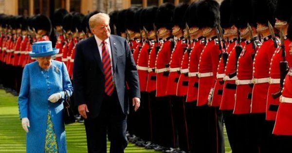 трамп в англии