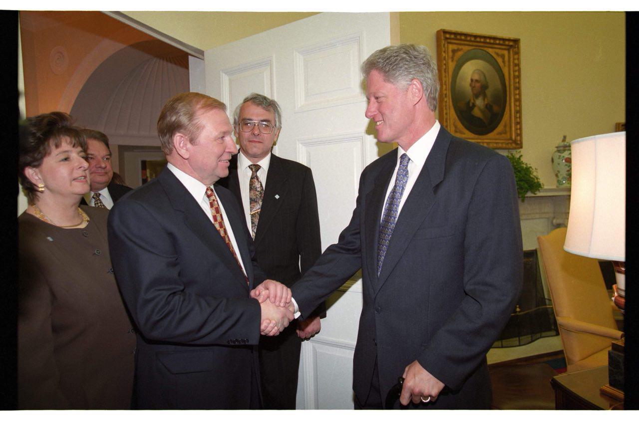 Леонід Кучма і Біл Клінтон
