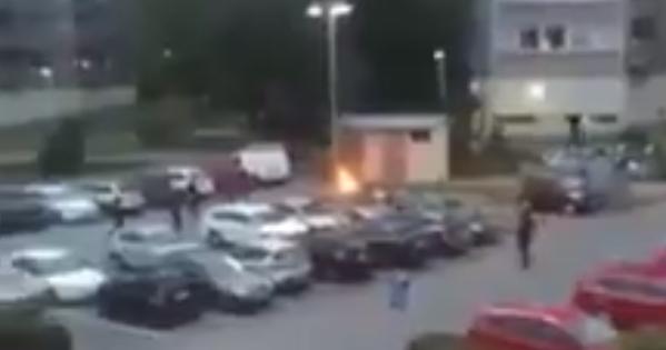 Вгородах Швеции неизвестные подожгли десятки авто