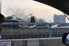 Пожежа у Києві: Петрівка у диму