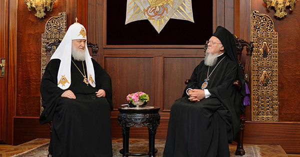 Патріарх Кирило та Вселенський патріарх Варфоломій