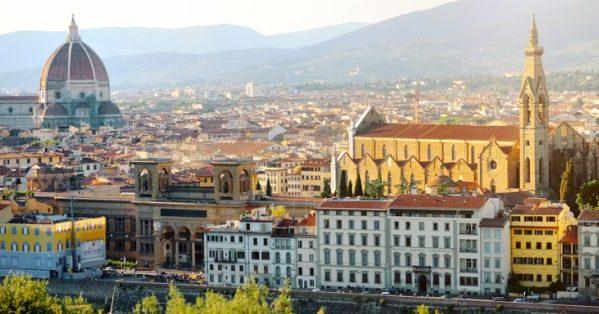Вцентре Флоренции вчас пик запретят еду