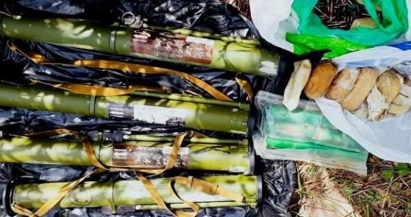 У центрі Києва знайшли арсенал зброї
