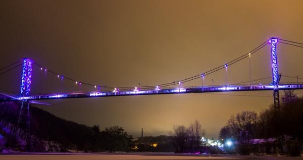 Пішохідний міст у Житомирі