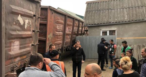 Аварія товарняка в Ужгороді