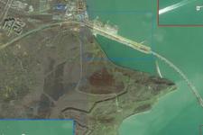 Керченський міст з космосу