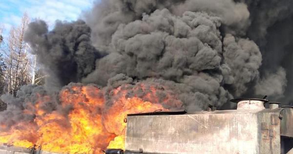 На Львівщині загорівся резервуар з нафтою