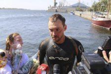 Український плавець проплив Дніпром від Білорусі до Херсону