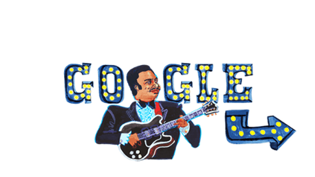 День рождения Би Би Кинга – Google выпустил дудл