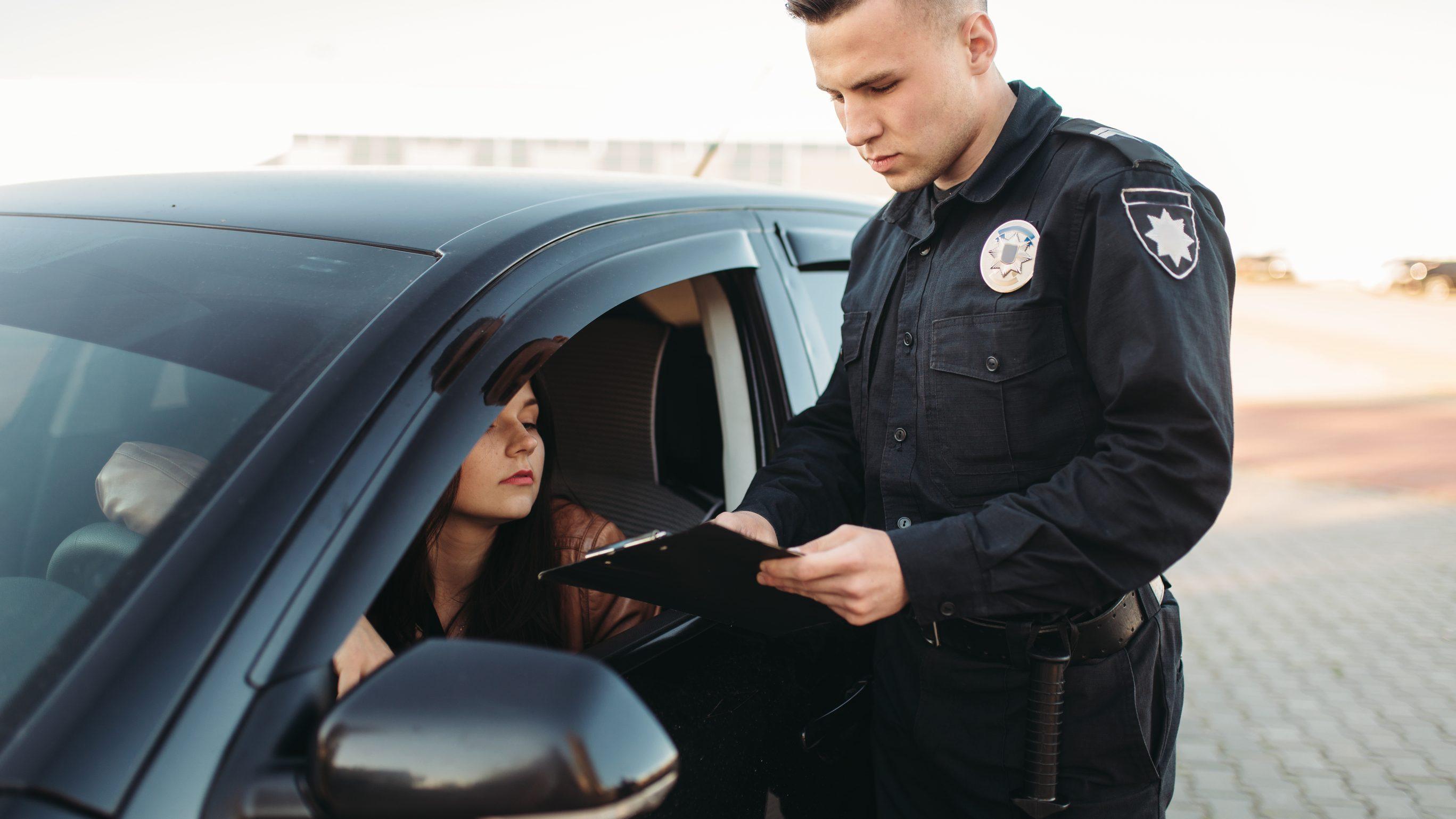Водій і поліцейський