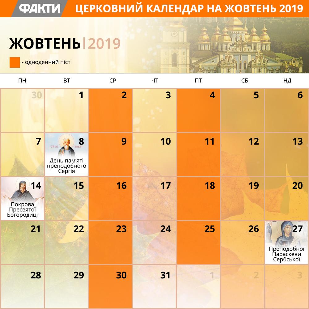 релігійні свята у жовтні