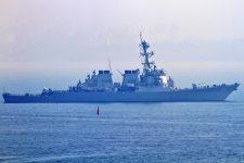 Американский ракетный эсминец Ross зашел в Черное море