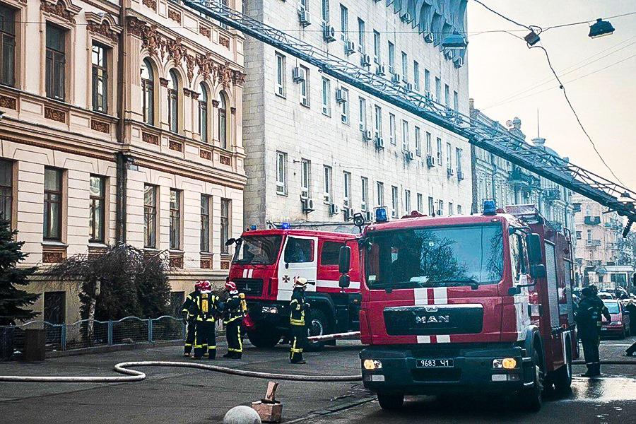 Пожежа в будівлі Мінкульту