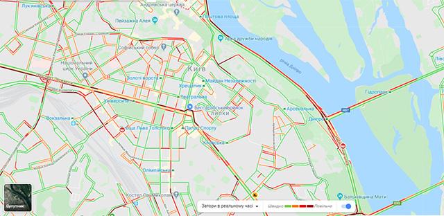 Пробки в Киеве 30 января - КАРТА