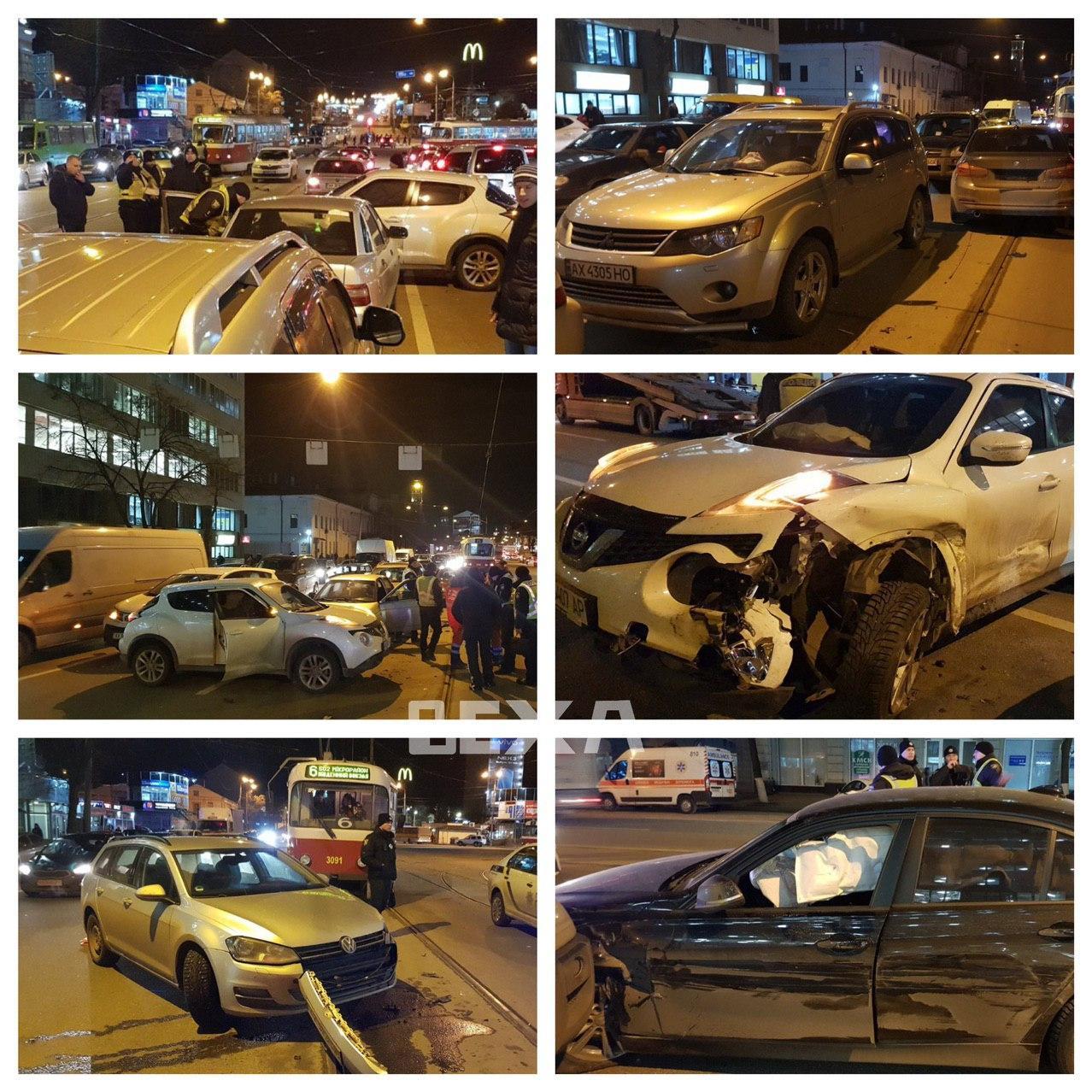 Масштабна ДТП у Харкові: зіткнулися вісім машин