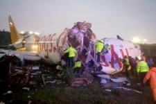 В Турции разбился самолет: видео с места аварии