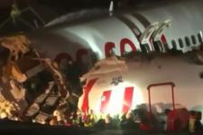 Один человек погиб при жесткой посадке самолета в Стамбуле, ранены 157