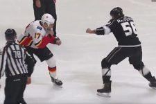В матче НХЛ подрались два хоккеиста весом более 100 кг