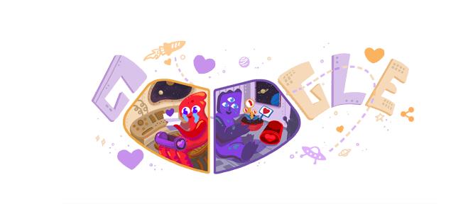 День святого Валентина: Google дудл с поздравлениями
