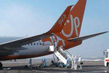 Літак SkyUp пройшов дезінфекцію після евакуації українців з Уханя