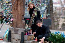 День Героев Небесной сотни: Зеленский с женой почтил память погибших