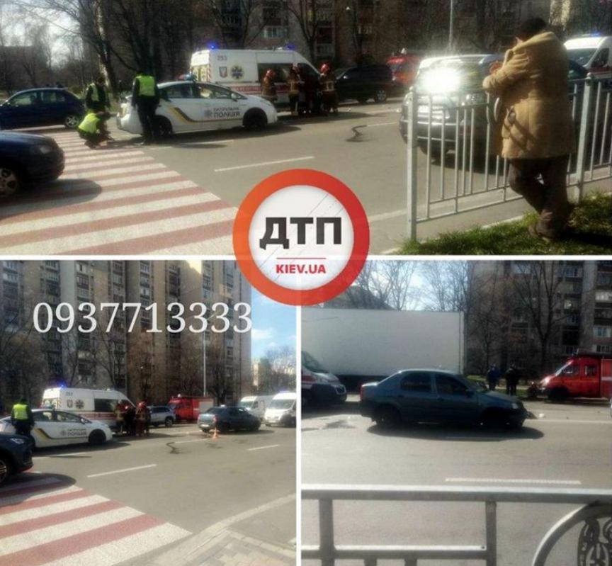 Кілька метрів протягнув малюка: у Києві таксист збив жінку з дитиною