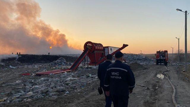 У Львівській області горить новояворівське сміттєзвалище