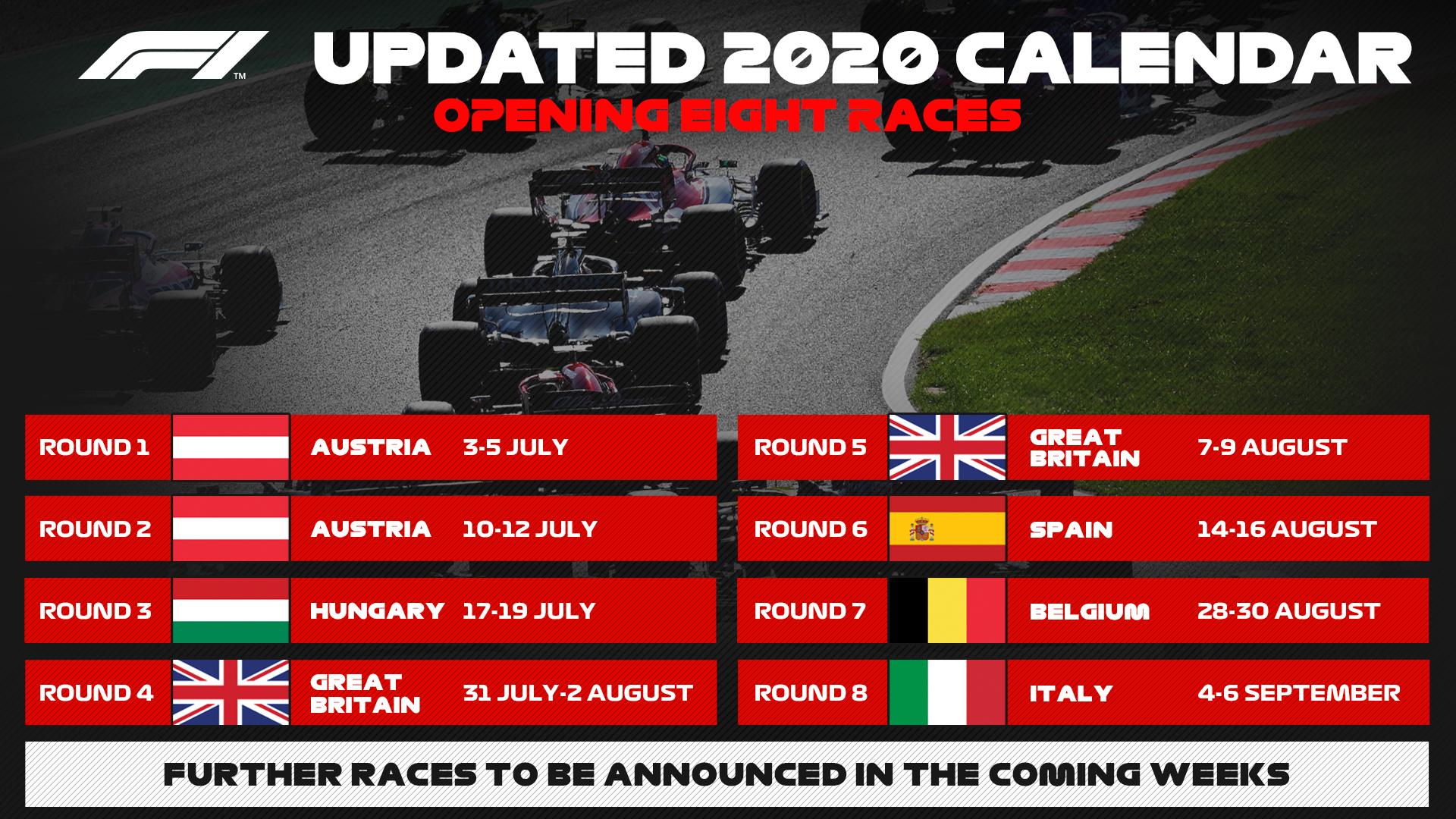 Формула-1 календарь 2020